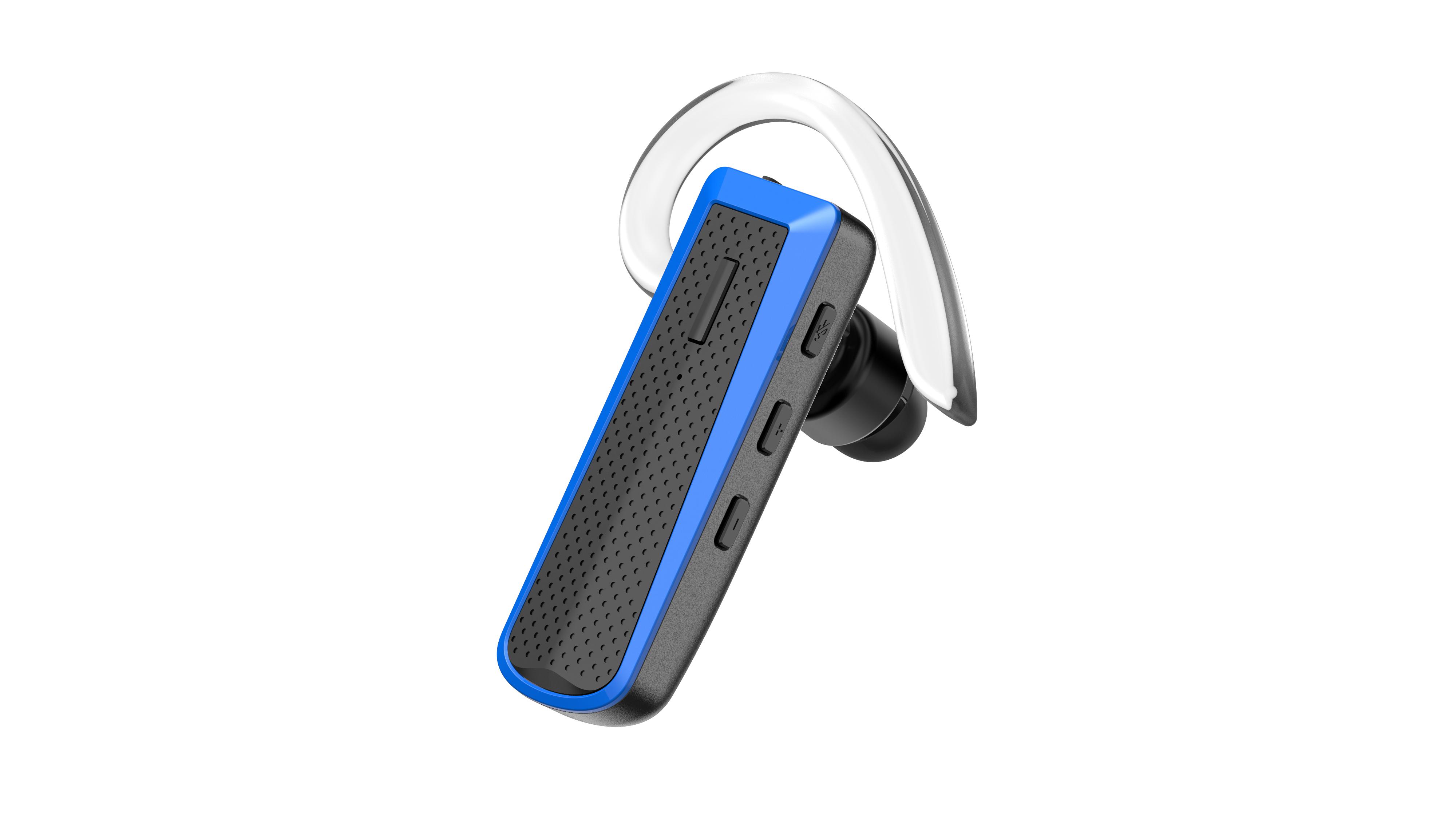 happyset Blue - Bluetooth Headset Blau für 2 Geräte gleichzeitig Handy Smartphone iPhone universal