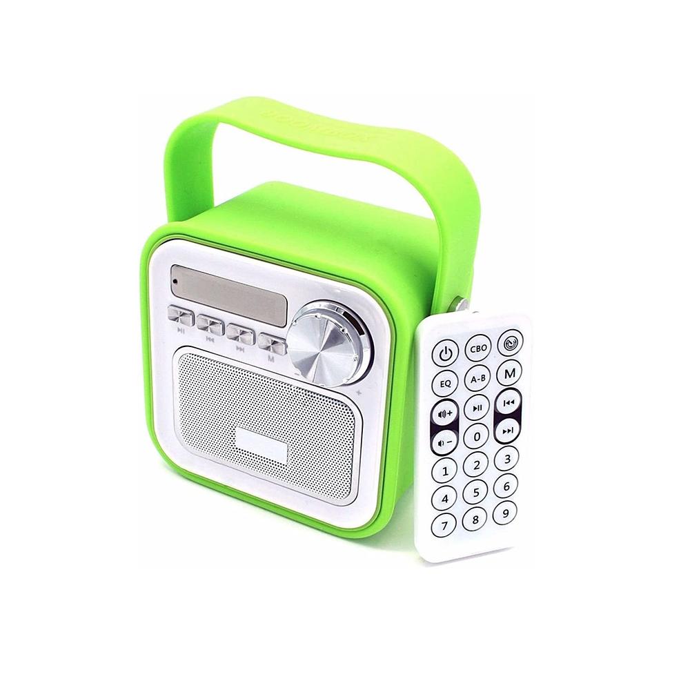 Bluetooth Lautsprecher Grün mit Radio für Küche Bad Büro